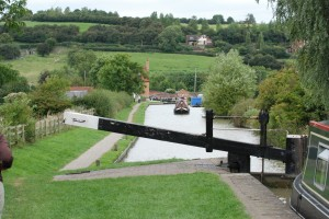 Locks on the flight at Napton